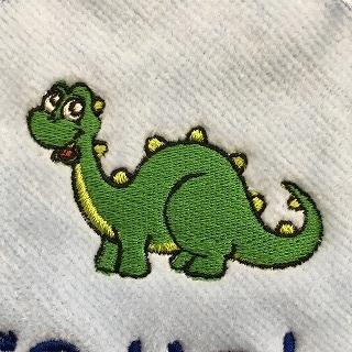 かわいい恐竜の刺繍