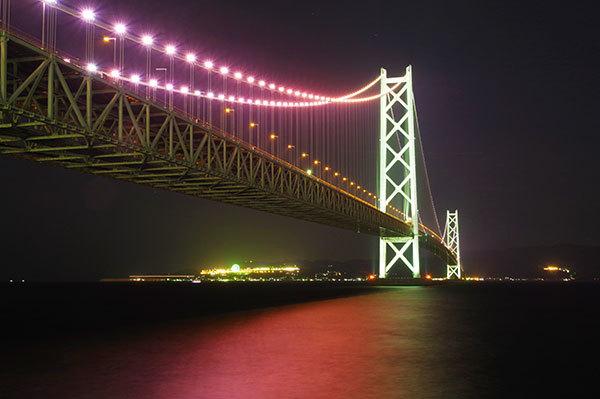 舞子公園から明石海峡大橋