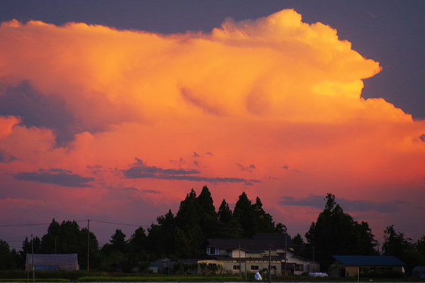 紫波町片寄の積乱雲