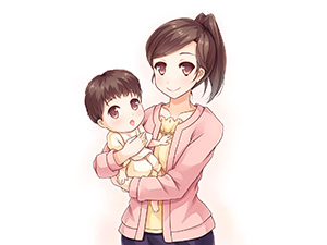 親子 赤ちゃん 育児 女性