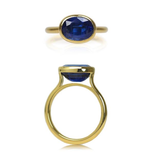K18YG製イエローゴールドカイヤナイトカイアナイトリング指輪