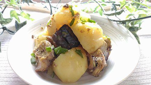 ジャガイモとサバ水煮のカレー煮