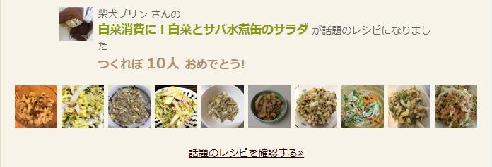 話題のレシピ白菜とサバ水煮缶のサラダ