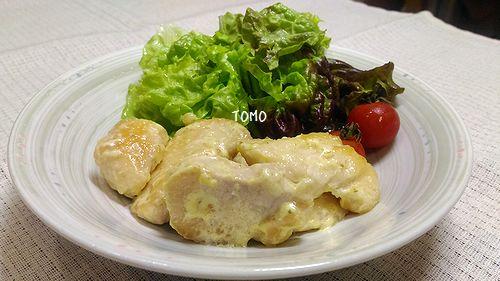 鶏胸肉の柚子マヨ炒め