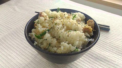 豚肉と葱の炊き込みご飯