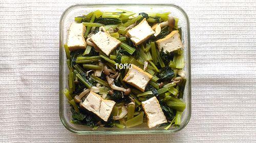 小松菜と厚揚げのさっぱり炒め