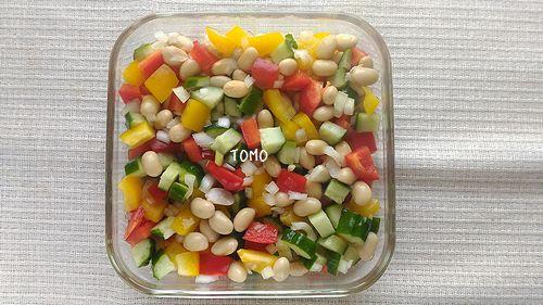 大豆とパプリカのマリネ