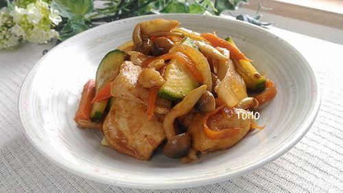 鶏胸肉とズッキーニのコチジャン炒め
