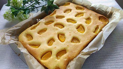 桃缶のヨーグルトケーキ