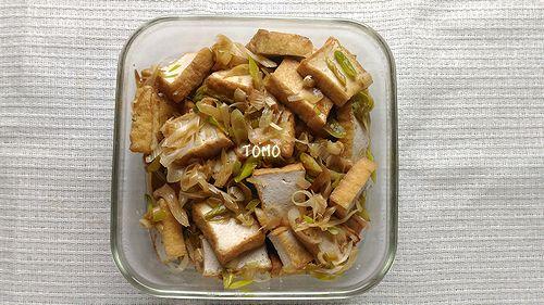 厚揚げの葱生姜炒め