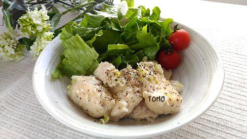鶏胸肉のネギ塩炒め