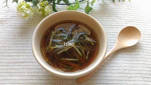 きゅうりと春雨のほうじ茶和風冷製スープ