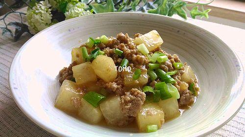 大根と豚挽き肉のピリ辛コチジャン炒め