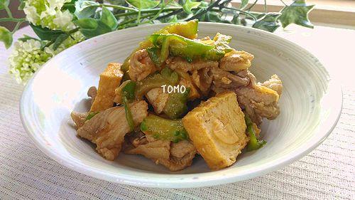 豚肉とゴーヤコチュジャン味噌炒め