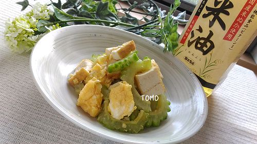 ゴーヤと厚揚げの麺つゆ和え4