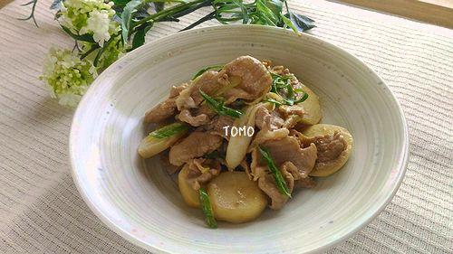 里芋と豚肉のオイスターソース炒め
