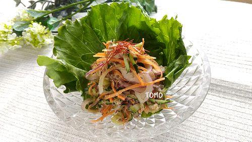 サバ缶の韓国風サラダ