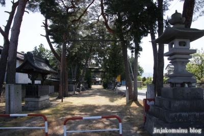細萱洲波神社(安曇野市豊科南穂高西浦)1