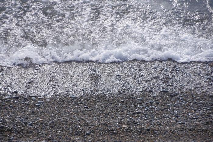 波打ち際の癒し