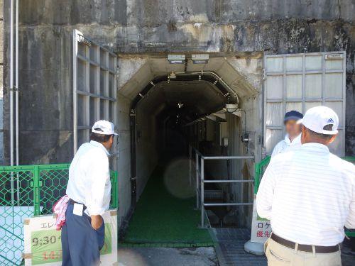 2015年6月28日下久保ダム点検放流エレベータ開放イベント入口