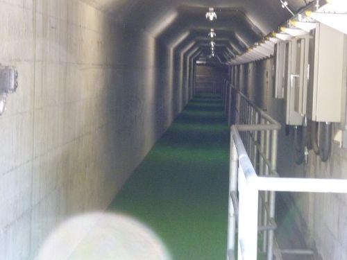 2015年6月28日下久保ダム点検放流放流ダムの内部へ
