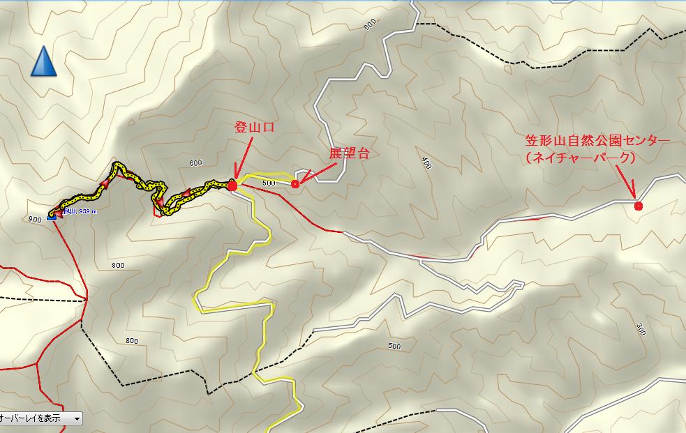 2018笠形山/地図