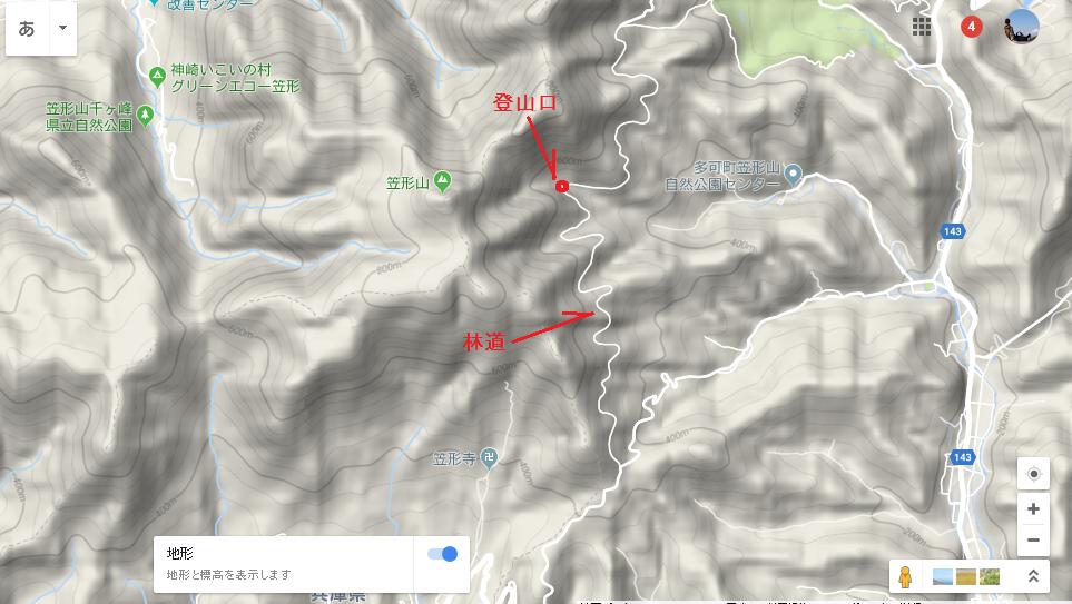 2018笠形山/地図2