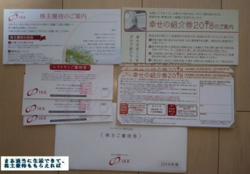 アイケイケイ 優待内容 優待券 201804