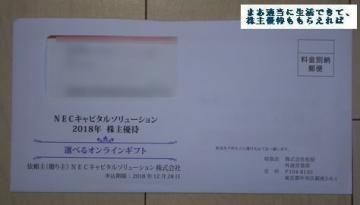 NECキャピタルソリューション 優待案内 201803