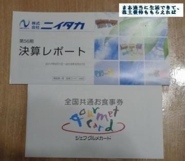 ニイタカ ジェフグルメカード(500円相当) 201805