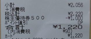 ヤマダ電機 優待券利用03 1808 201803