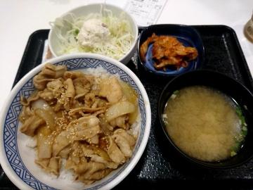 吉野家HD 豚キムチ丼01 201802