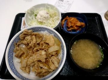 吉野家HD 豚キムチ丼02 201802