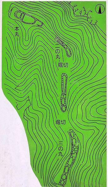 楪城_縄張図