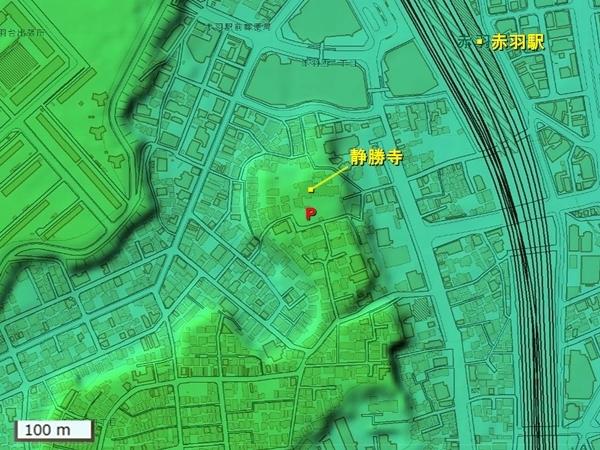 稲付城地形図