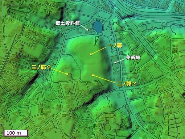 赤塚城地形図