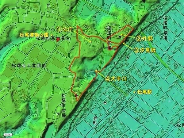 松尾城地形図