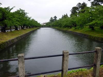 鶴ヶ岡城_二ノ丸堀