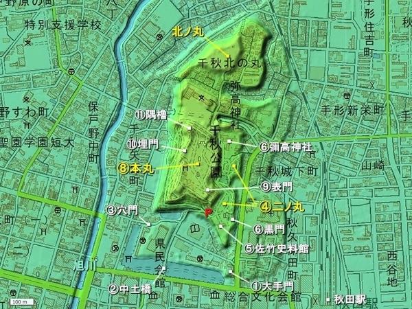 久保田城地形図