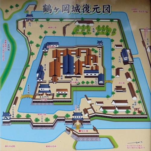 鶴ヶ岡城_復元図