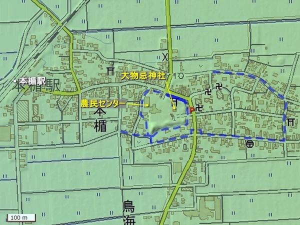 新田目城地形図
