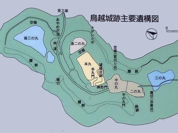 鳥越城縄張図