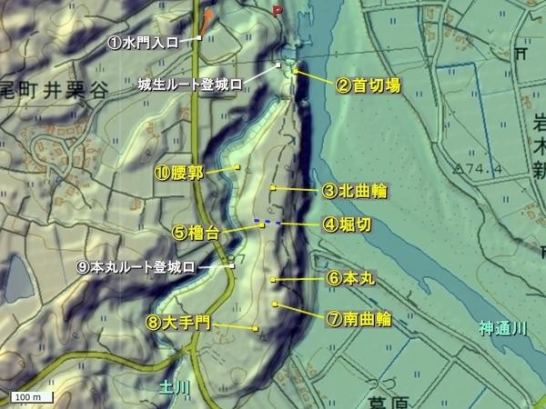 城生城地形図