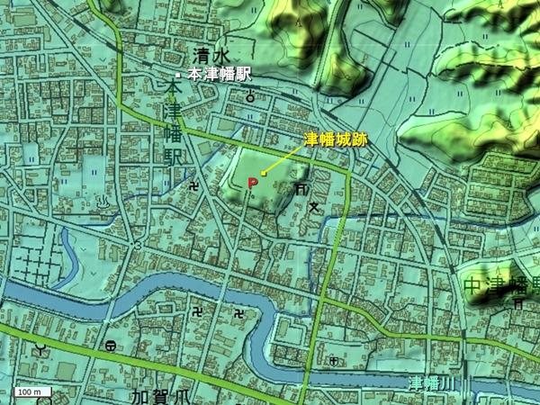 津幡城地形図