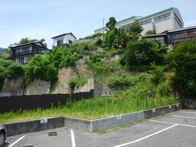 鞆城_本丸南面急崖