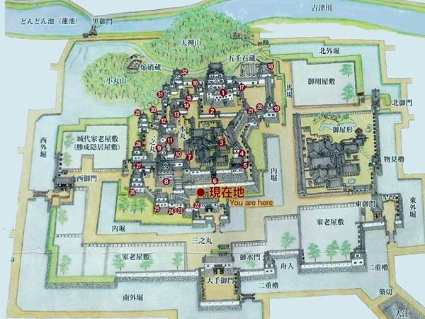 福山城俯瞰図