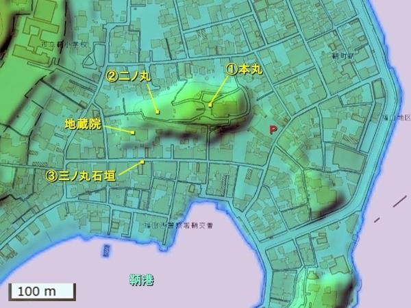 鞆城_地形図