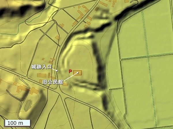 陣が峯城地形図