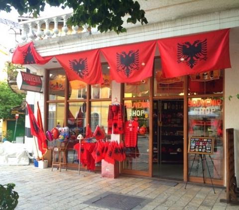 アルバニアのお土産屋さん