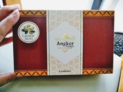 カンボジア製アンコールワットクッキー1